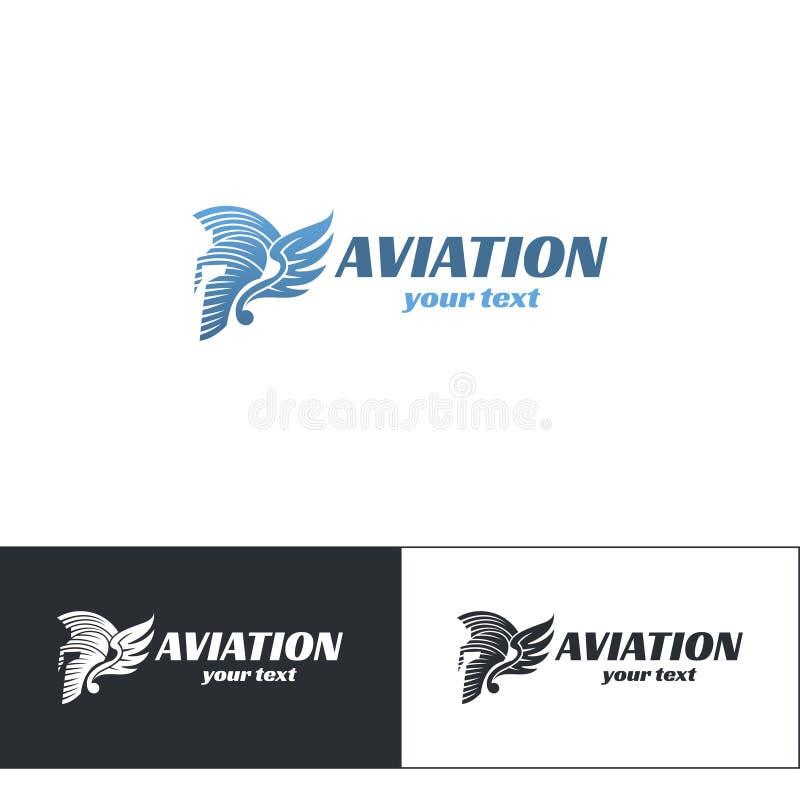 Luchtvaart Logo Design Five vector illustratie