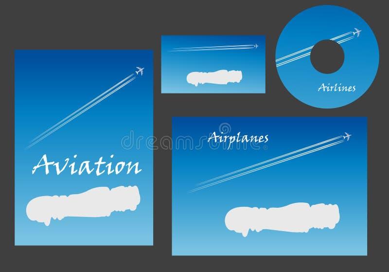 Luchtvaart marketing elementen royalty-vrije illustratie