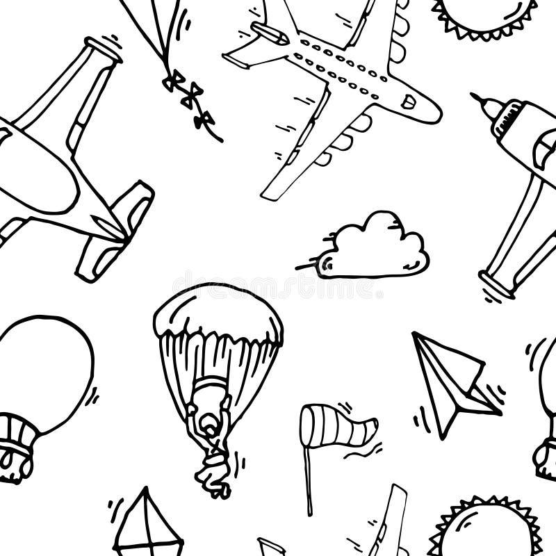 Luchtvaart naadloos patroon vector illustratie