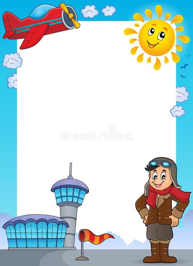 Luchtvaart thematisch kader 1 vector illustratie