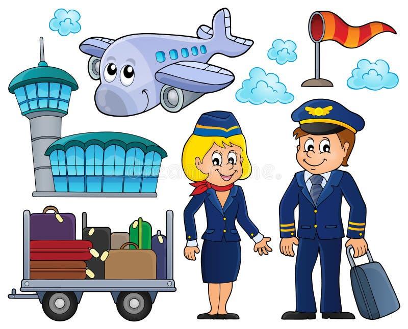 Luchtvaart thematische reeks 1 vector illustratie