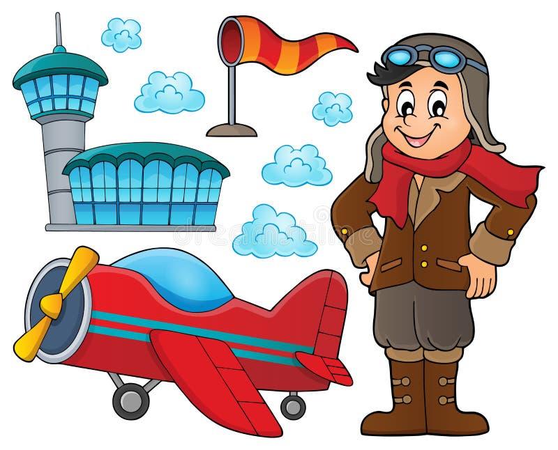 Luchtvaart thematische reeks 2 vector illustratie