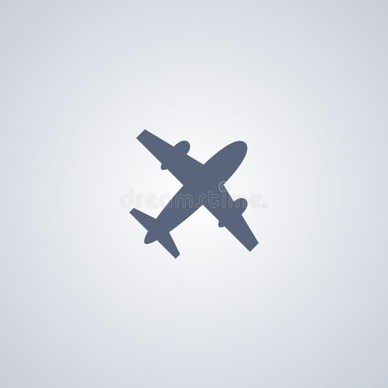 Luchtvaart, vliegtuig, vector beste vlak pictogram royalty-vrije illustratie