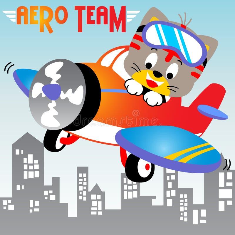 Luchtvaartacademie stock illustratie