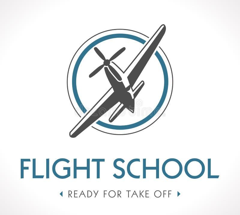 Luchtvaartembleem royalty-vrije illustratie