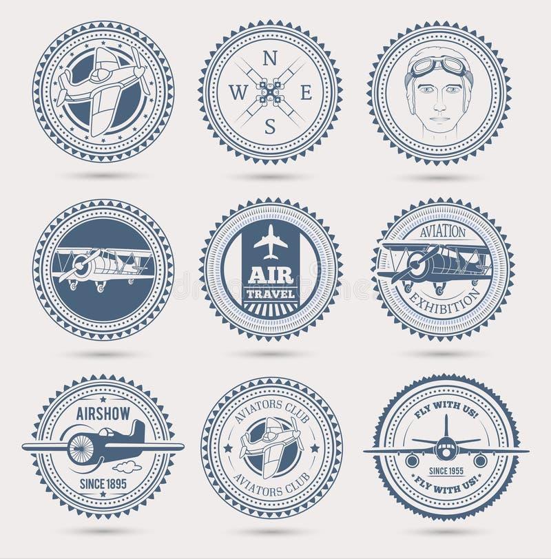 Luchtvaartkentekens vector illustratie