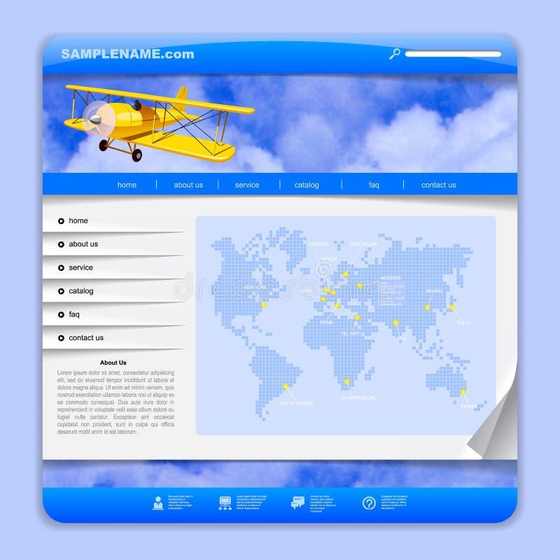 Luchtvaartlijnen of het ontwerp van het reisweb vector illustratie