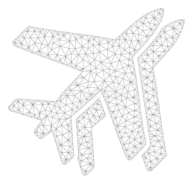 Luchtvaartlijnen Veelhoekig Kader Vectormesh illustration royalty-vrije illustratie