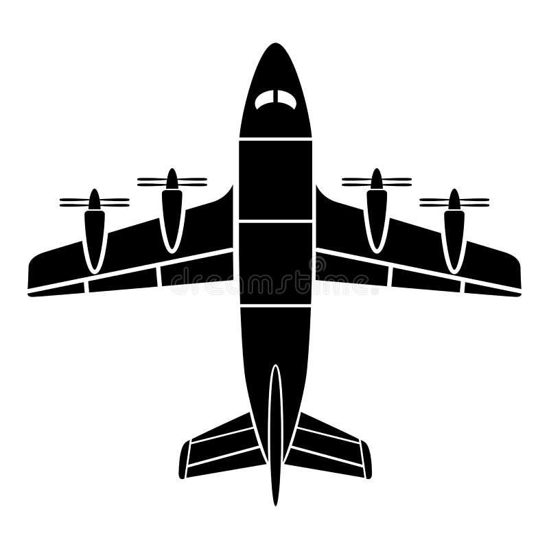 Luchtvaartpictogram, eenvoudige stijl vector illustratie