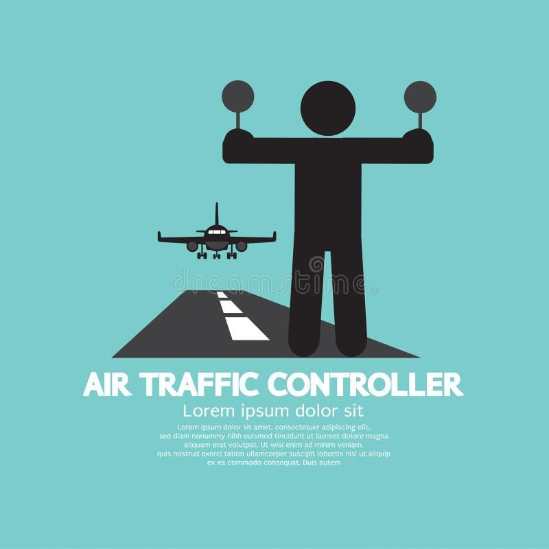 Luchtverkeersleider Graphic Symbol stock illustratie