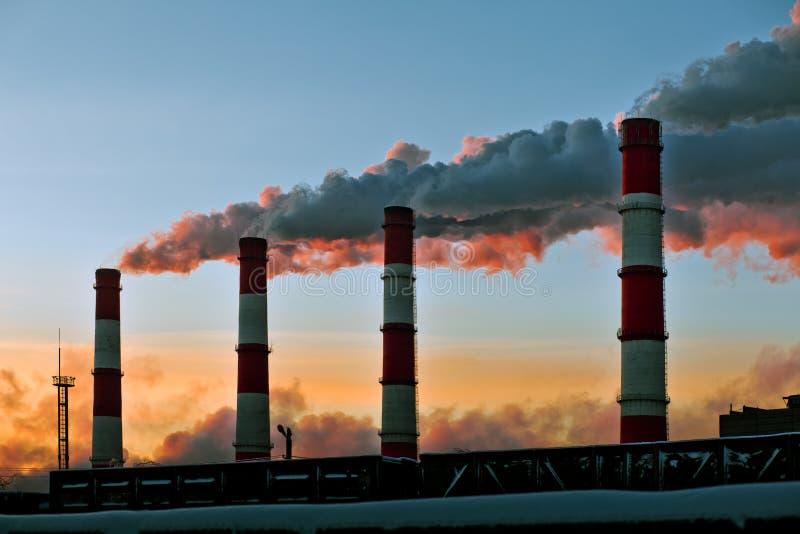 Luchtvervuiling royalty-vrije stock afbeeldingen