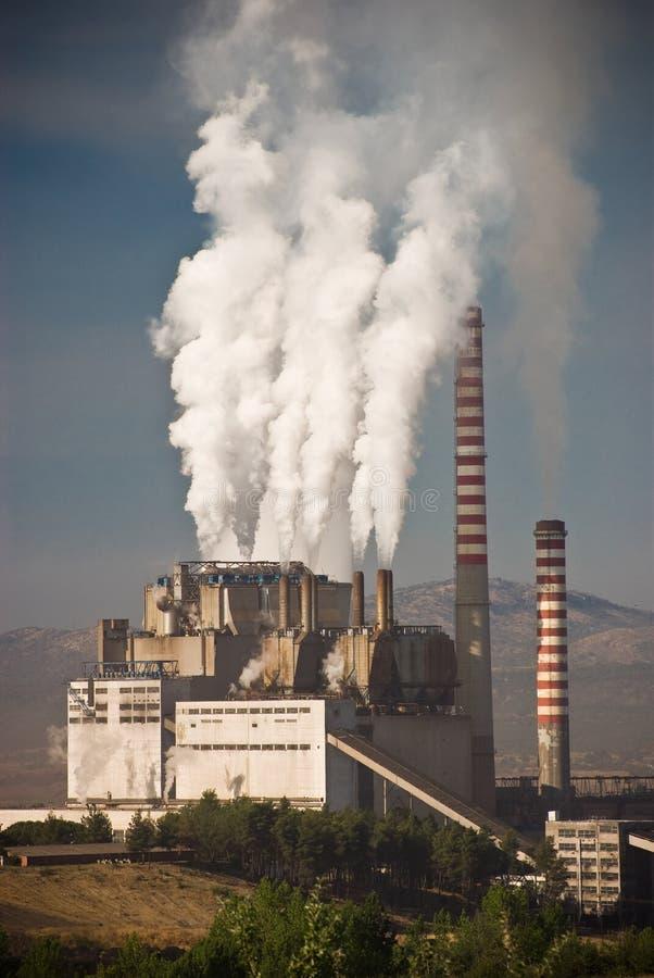 Luchtvervuiling in Griekenland stock afbeeldingen