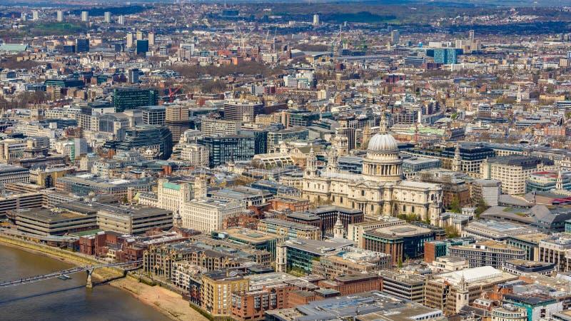 Luchtviev van Londen royalty-vrije stock foto's