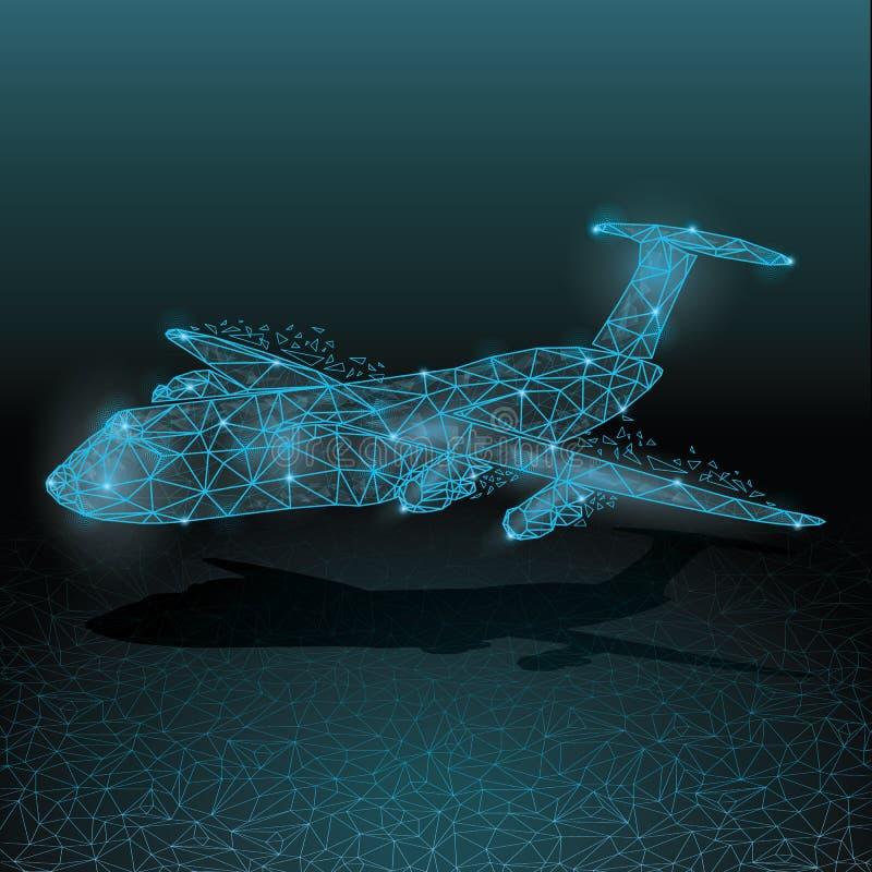 Luchtvliegtuig stock illustratie