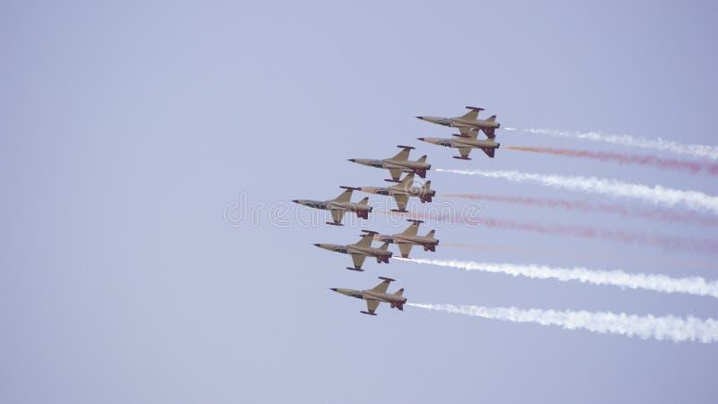 Luchtvliegtuigen royalty-vrije stock afbeeldingen