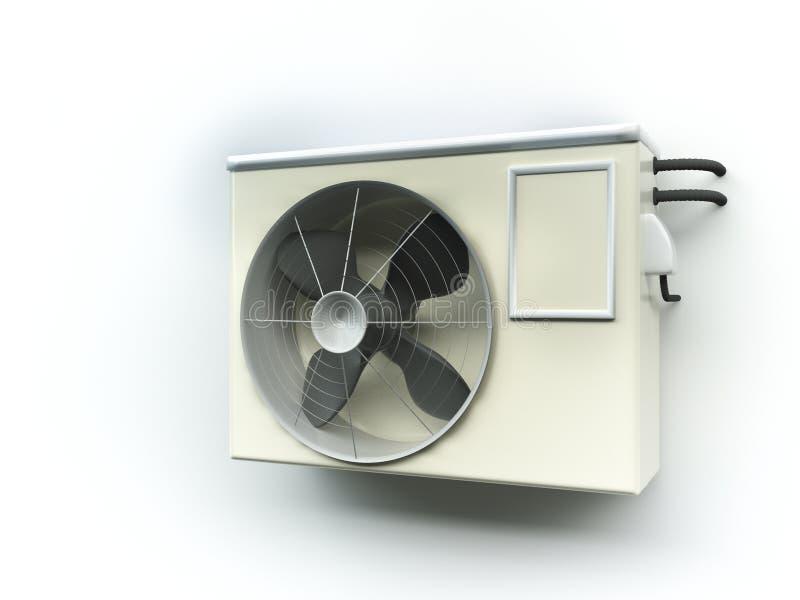 Luchtwarmtepomp stock illustratie