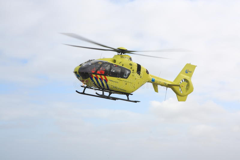 Luchtziekenwagen tijdens de vlucht royalty-vrije stock foto's