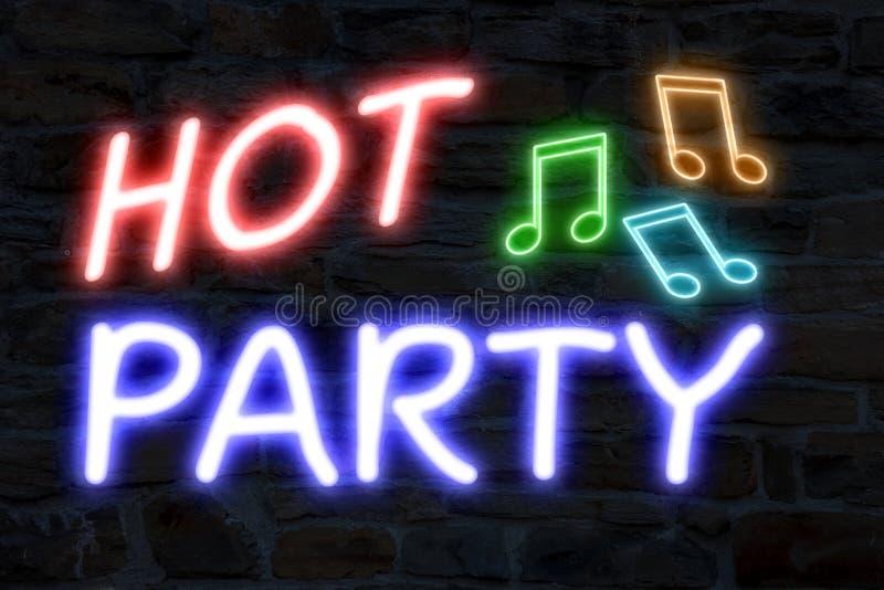 Luci al neon del partito caldo royalty illustrazione gratis