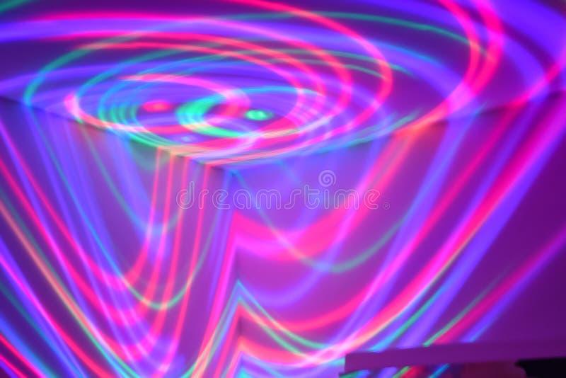Luci al neon di turbine di divertimento immagini stock