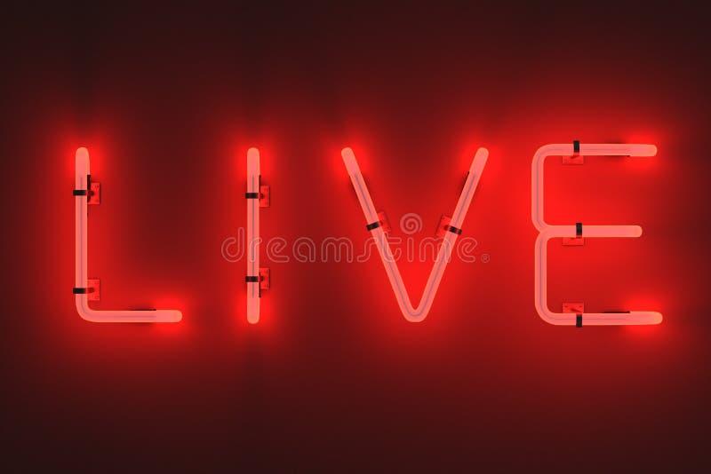 Luci al neon - viva illustrazione vettoriale