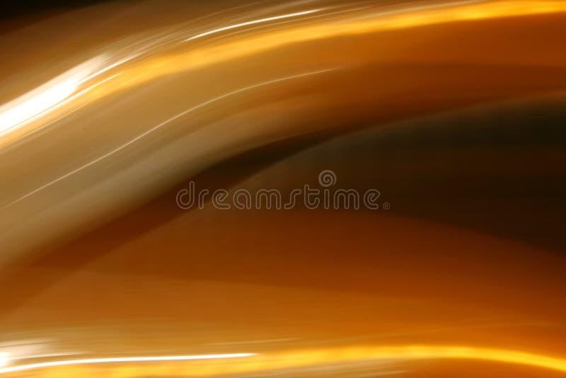 Luci arancio luminose scorrenti illustrazione vettoriale