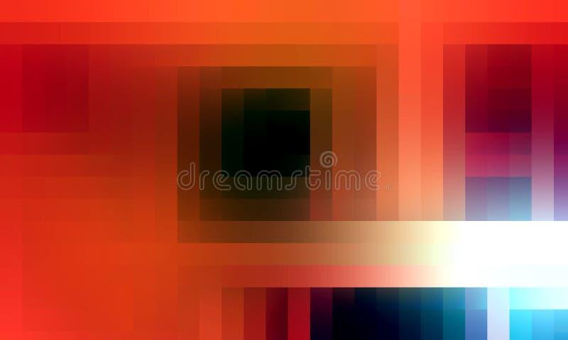 Luci astratte arancio vive luminose, fondo variopinto astratto e struttura illustrazione vettoriale