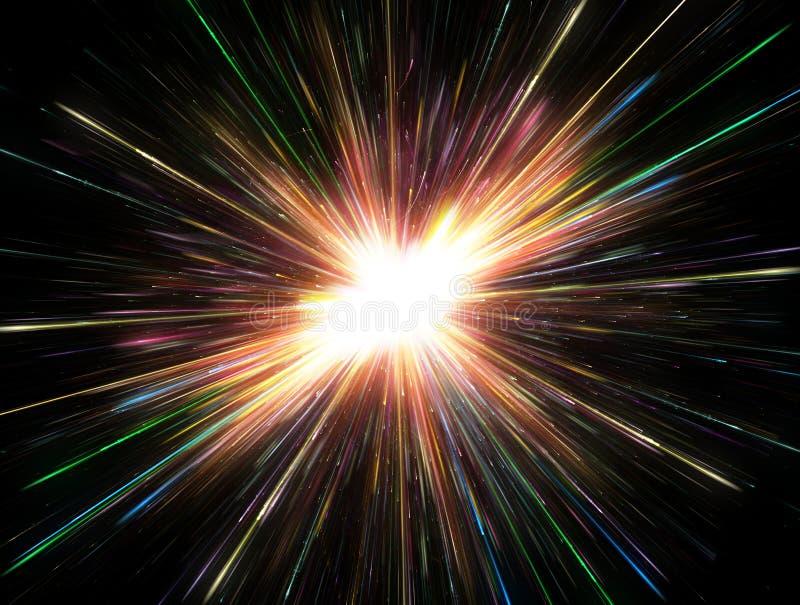 Luci d'ardore, esplosione della particella royalty illustrazione gratis