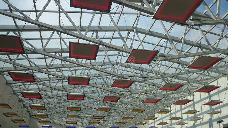 Luci del centro commerciale immagine stock