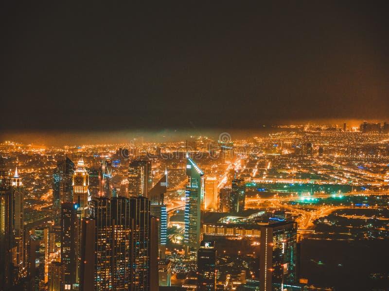 Luci del Dubai fotografia stock libera da diritti