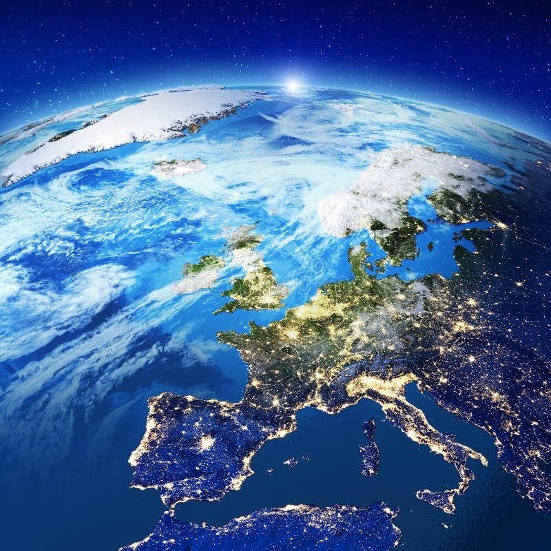 Luci della città di Europa illustrazione di stock