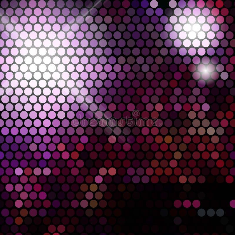 Luci della discoteca dell'oro - fondo astratto di vettore illustrazione di stock