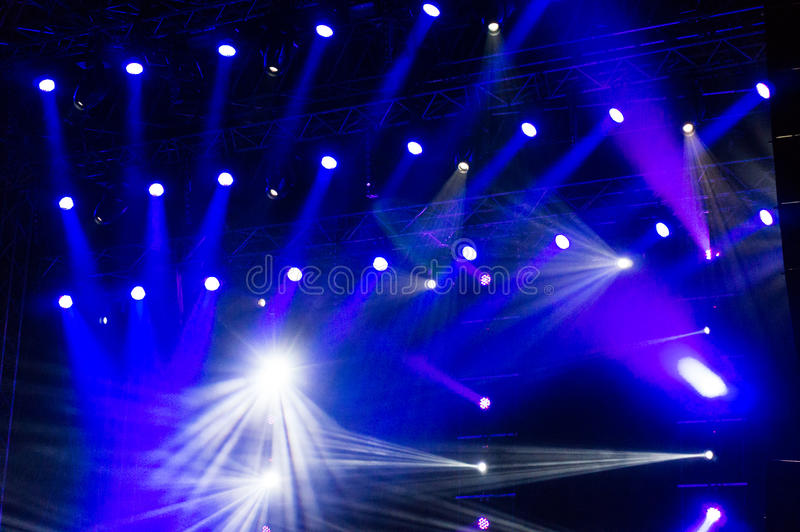 Luci della fase al concerto fotografie stock libere da diritti