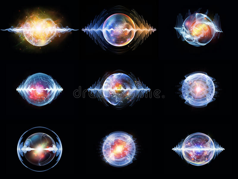 Luci della particella di Wave illustrazione di stock
