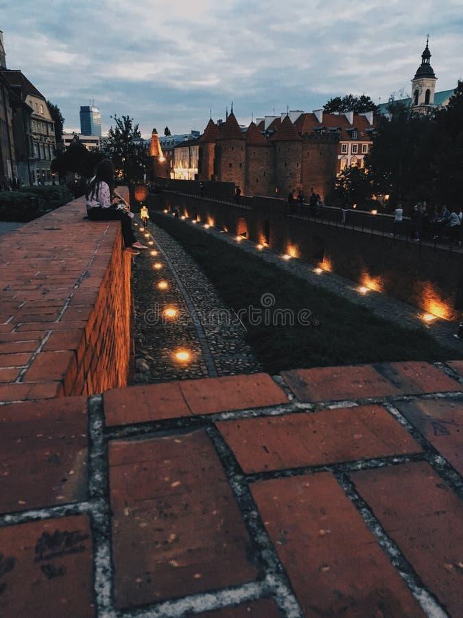 Luci di Città Vecchia immagini stock libere da diritti
