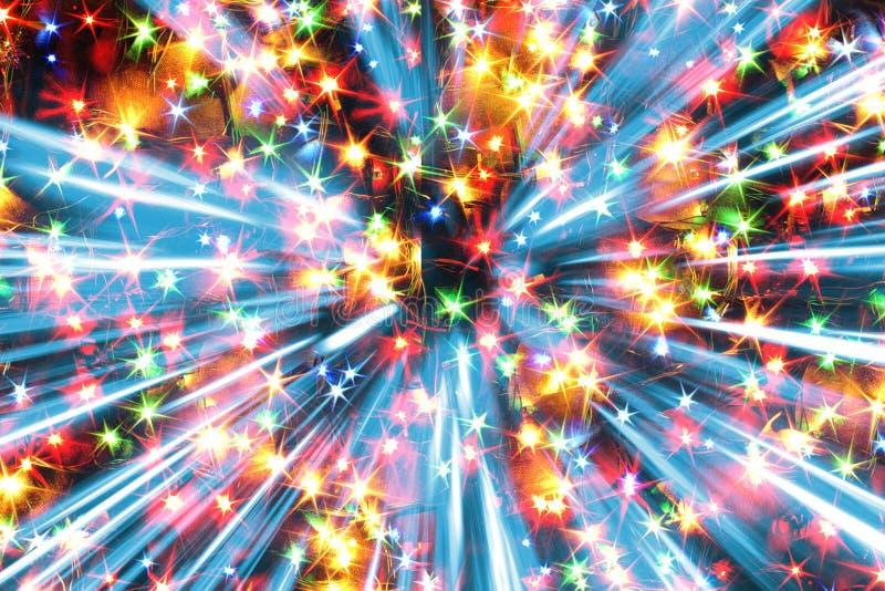Luci di colore di Natale illustrazione di stock
