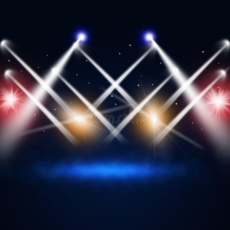 Luci di concerto di musica immagini stock libere da diritti