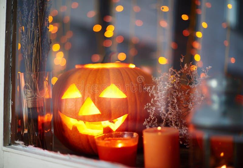 Luci di Halloween fotografia stock libera da diritti