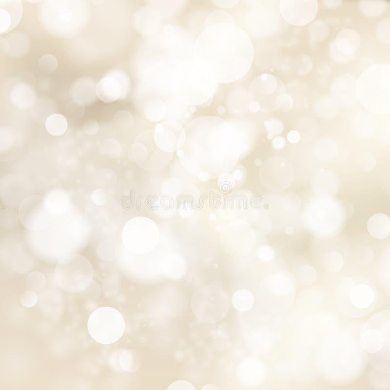 Luci di Natale astratte dorate molli ENV 10 royalty illustrazione gratis