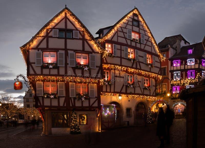 Luci di Natale a Colmar in Alsazia