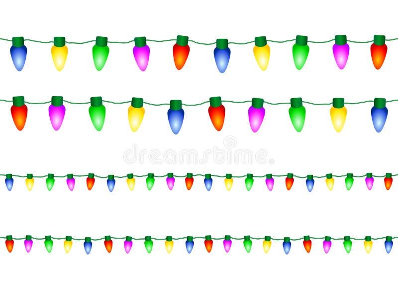 Luci di Natale decorative illustrazione vettoriale