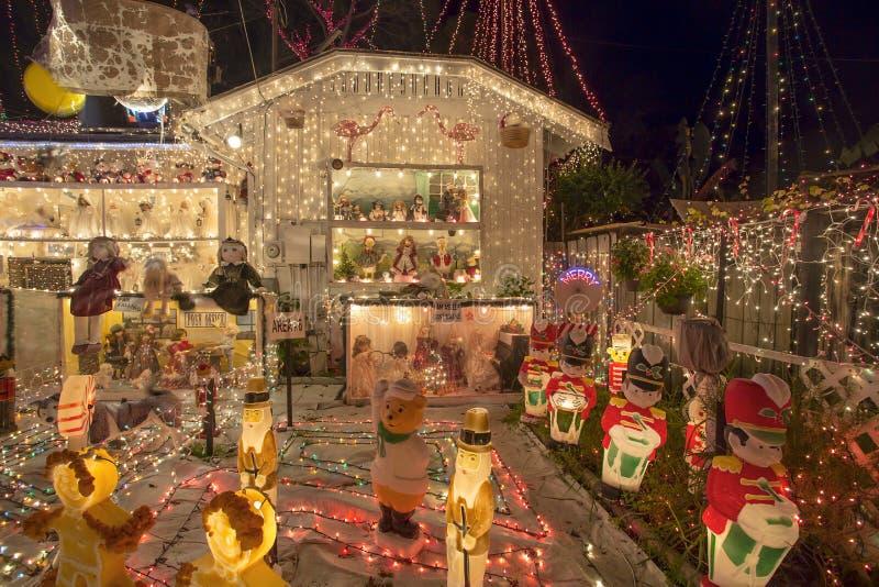 Luci di Natale esagerate fotografia stock libera da diritti
