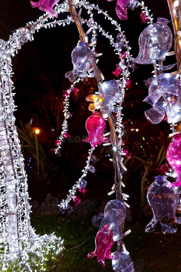 Luci di Natale in Salerno immagini stock