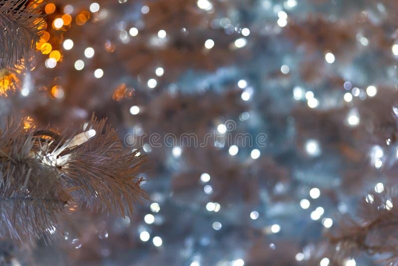 Luci di Natale in Salerno fotografie stock libere da diritti