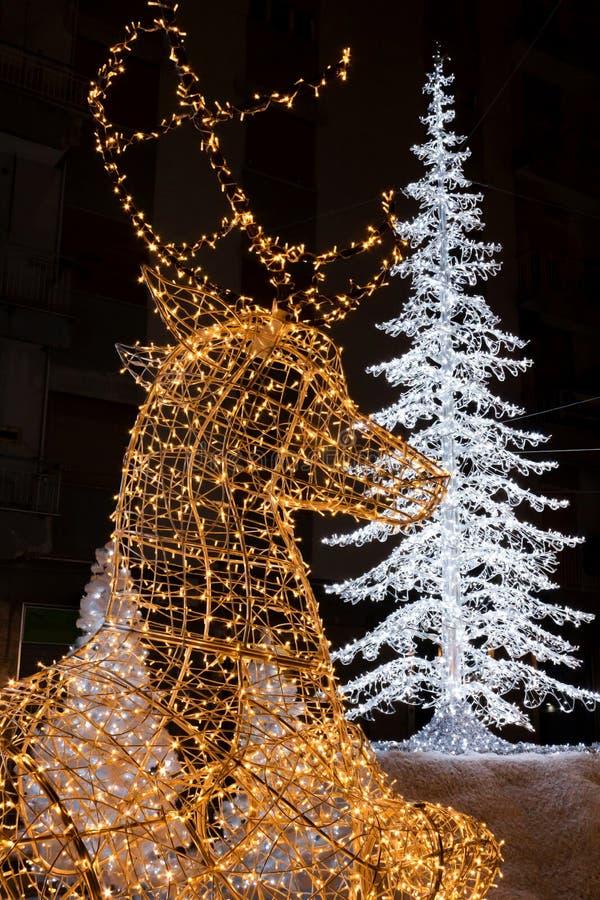 Luci di Natale in Salerno immagine stock