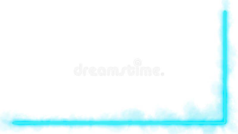 Luci di neon del turchese con i lotti dello spazio della copia per l'esposizione del prodotto o del testo fotografia stock libera da diritti
