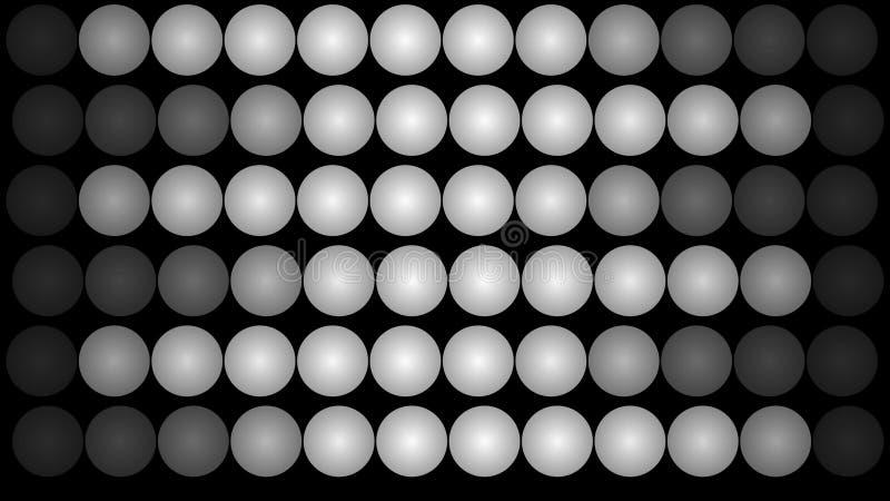 Luci di pannello principali che formano sei bande illustrazione vettoriale