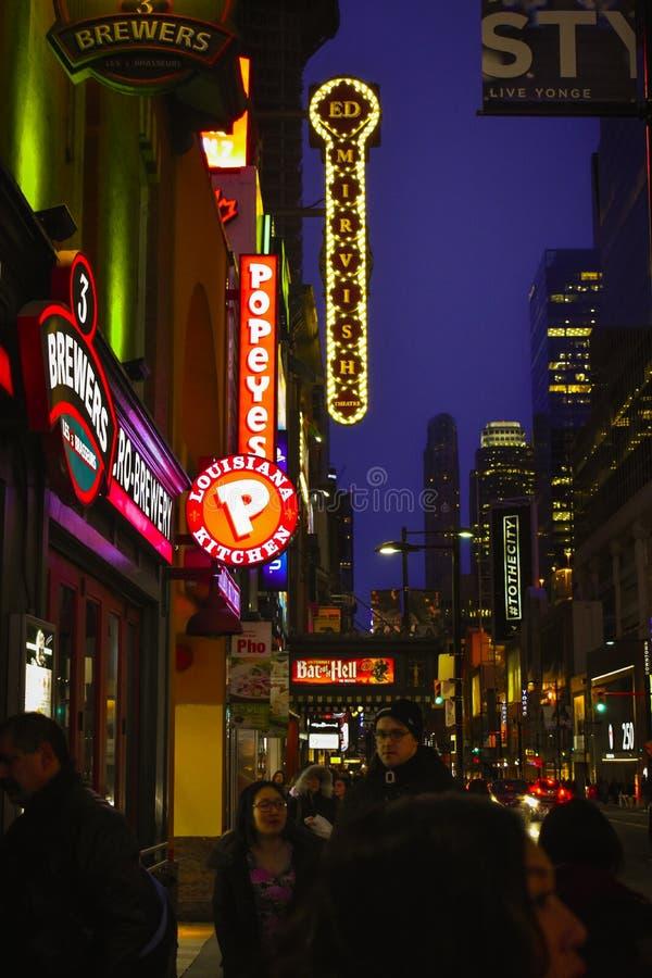 Luci di Toronto fotografia stock libera da diritti