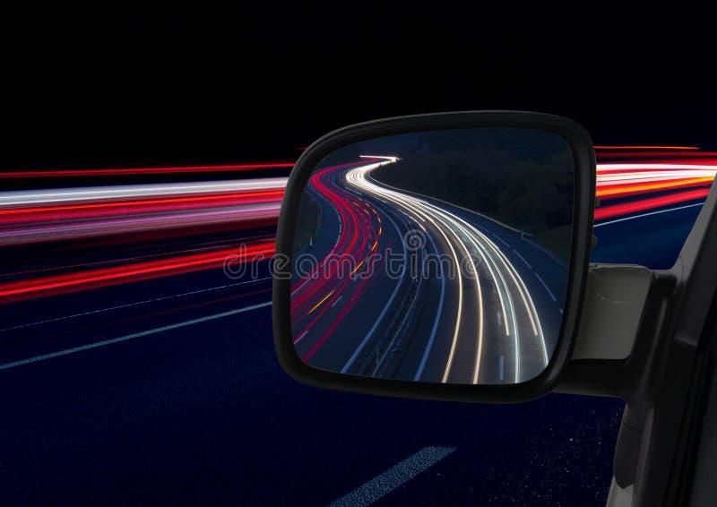 Luci e specchio dell'automobile fotografia stock libera da diritti