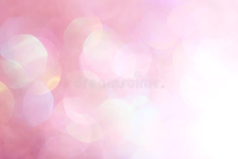 Luci morbide astratte eleganti del fondo di Natale festivo rosa royalty illustrazione gratis