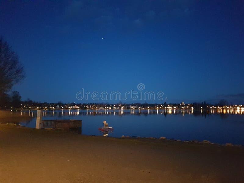 Luci notturne fotografie stock